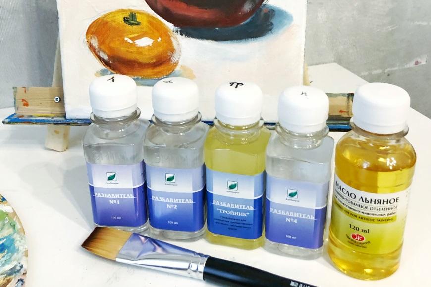 Разбавители для масляных красок - фото