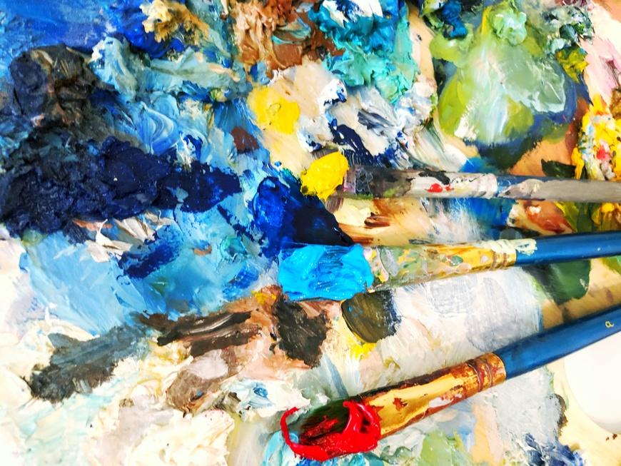 Восстановление засохших масляных красок - фото