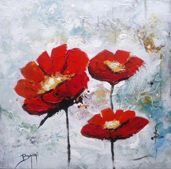Что нарисовать маслом на холсте - фото нарисованных интерьерных цветов