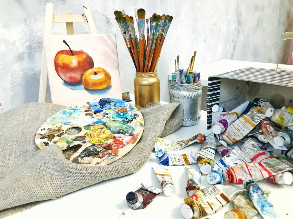 Как писать маслом на холсте- набор для живописи - фото