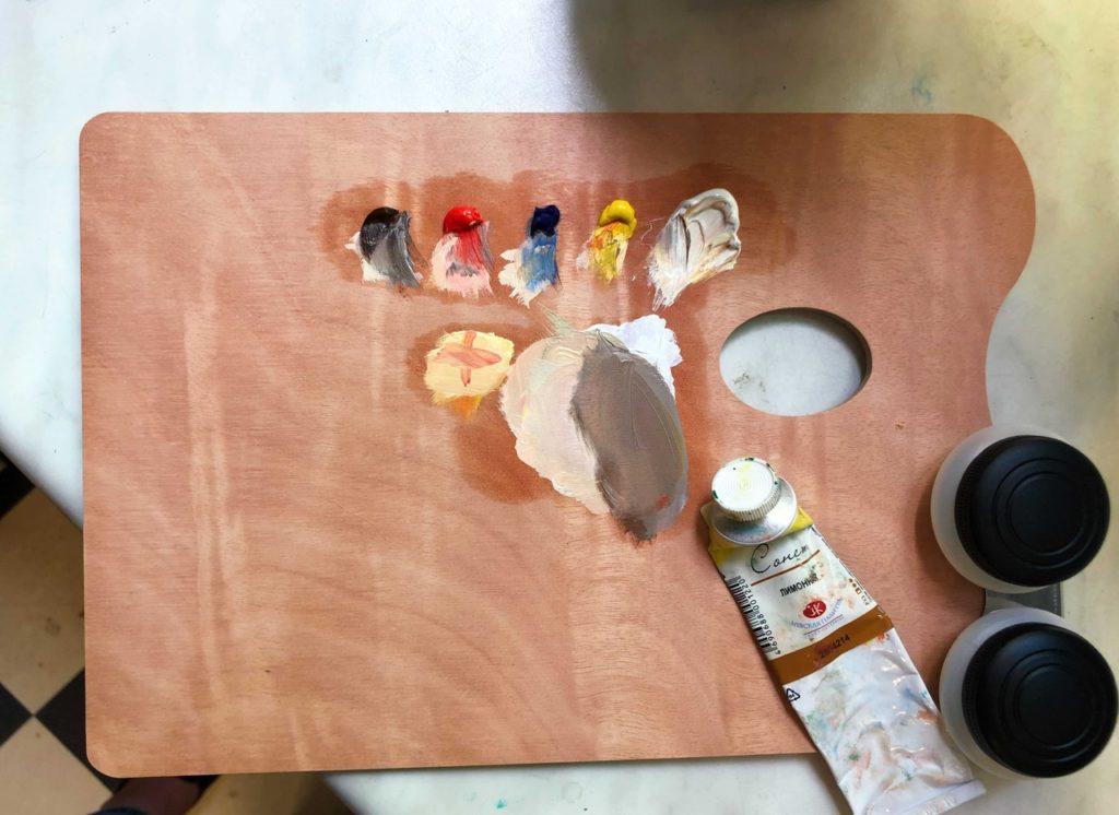 Палитра для смешивания масляных красок - фото