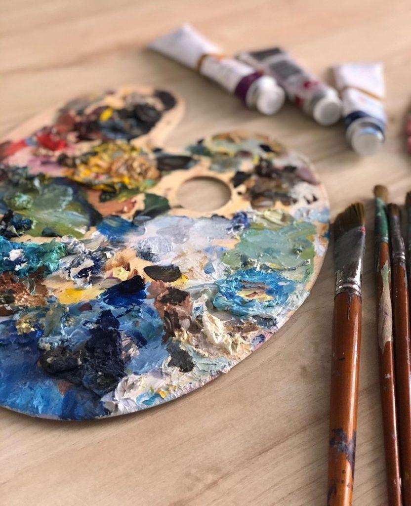 Выбрать палитру для рисования - фото