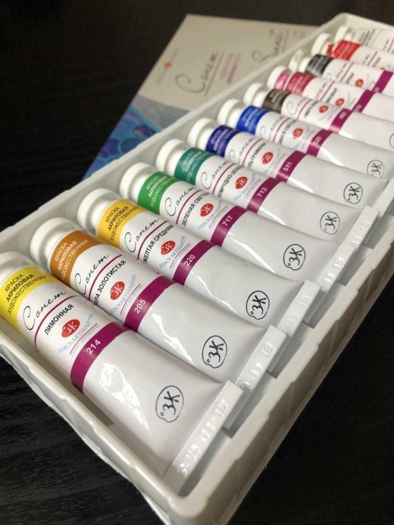 Акриловые краски для рисования - фото
