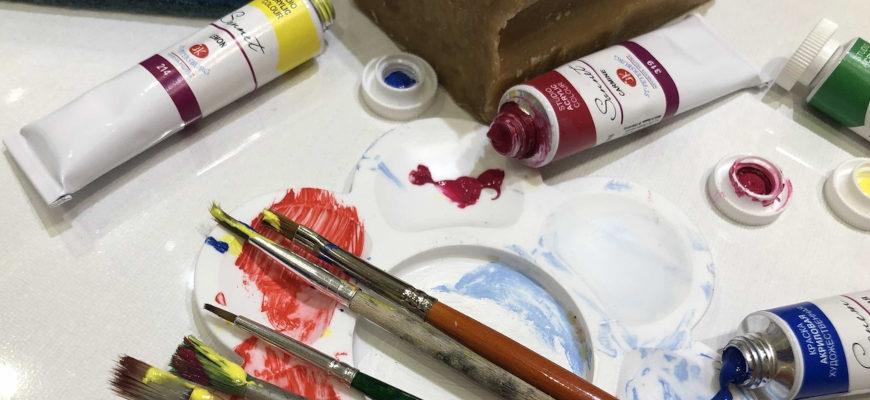 Чем смыть акриловую краску с кисточки - фото