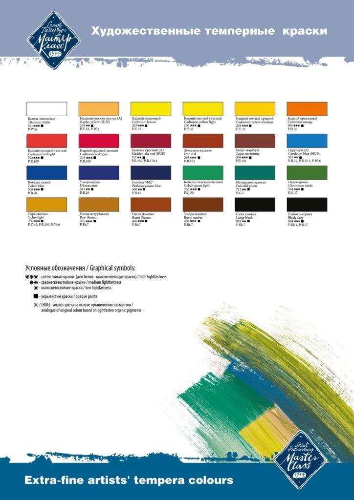 Темперные краски как пользоваться - фото