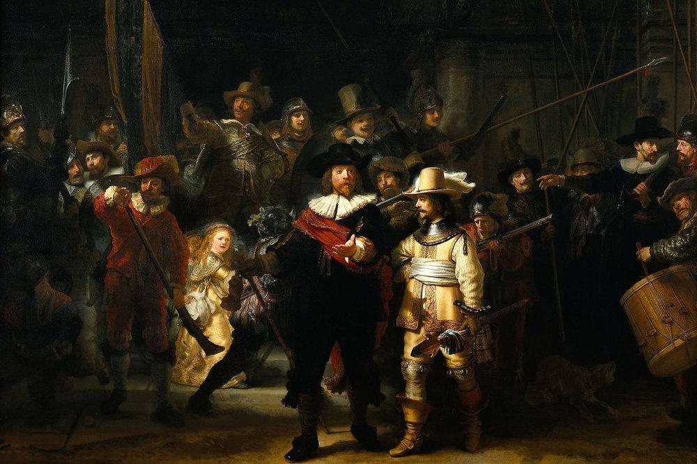 Имприматура в технике старых мастеров - Рембрандт - фото