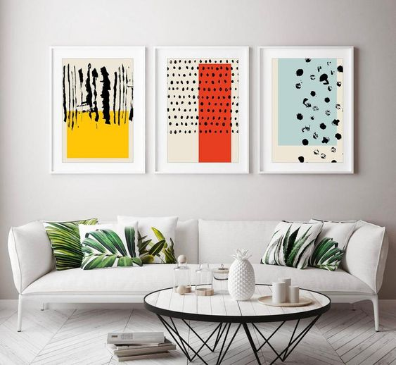Абстрактные картины для интерьера - фото