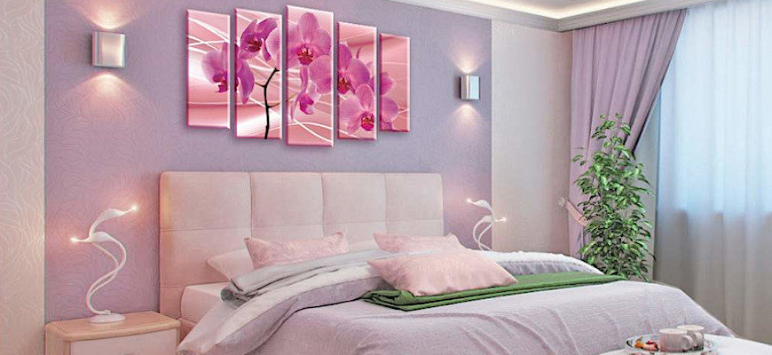 Какую картину повесить в спальне - фото