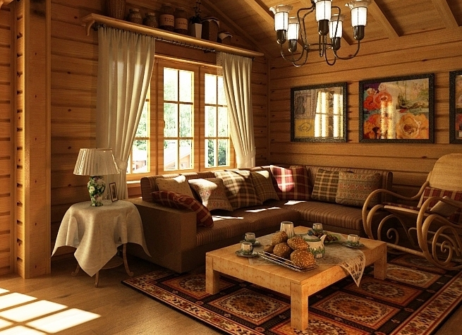 Картины для частного деревянного дома - фото