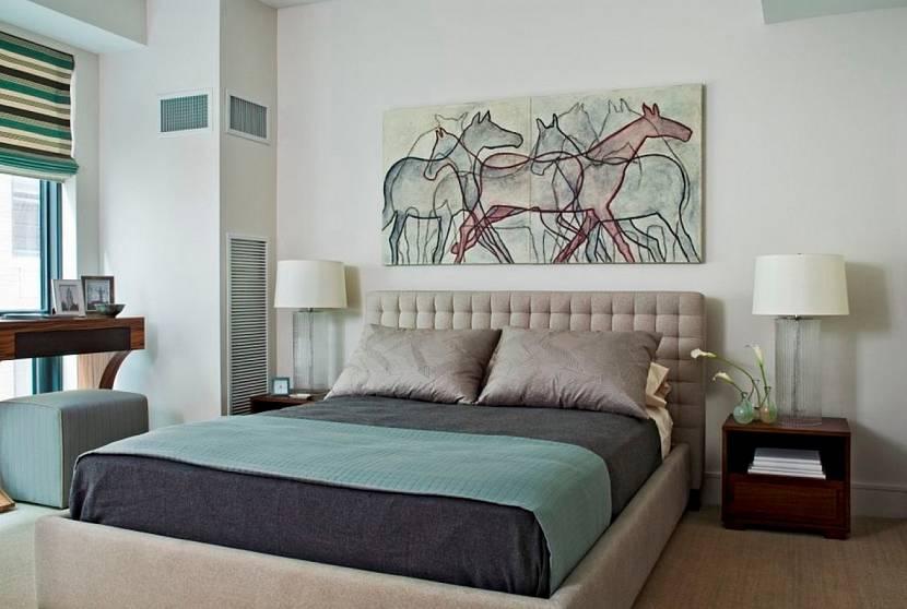 Картины в спальню над кроватью - фото