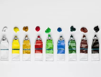 Разновидность красок для рисования - акрил - фото