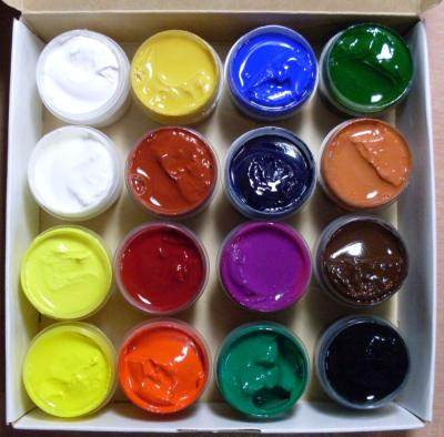 Разновидность красок для рисования - гуашь - фото