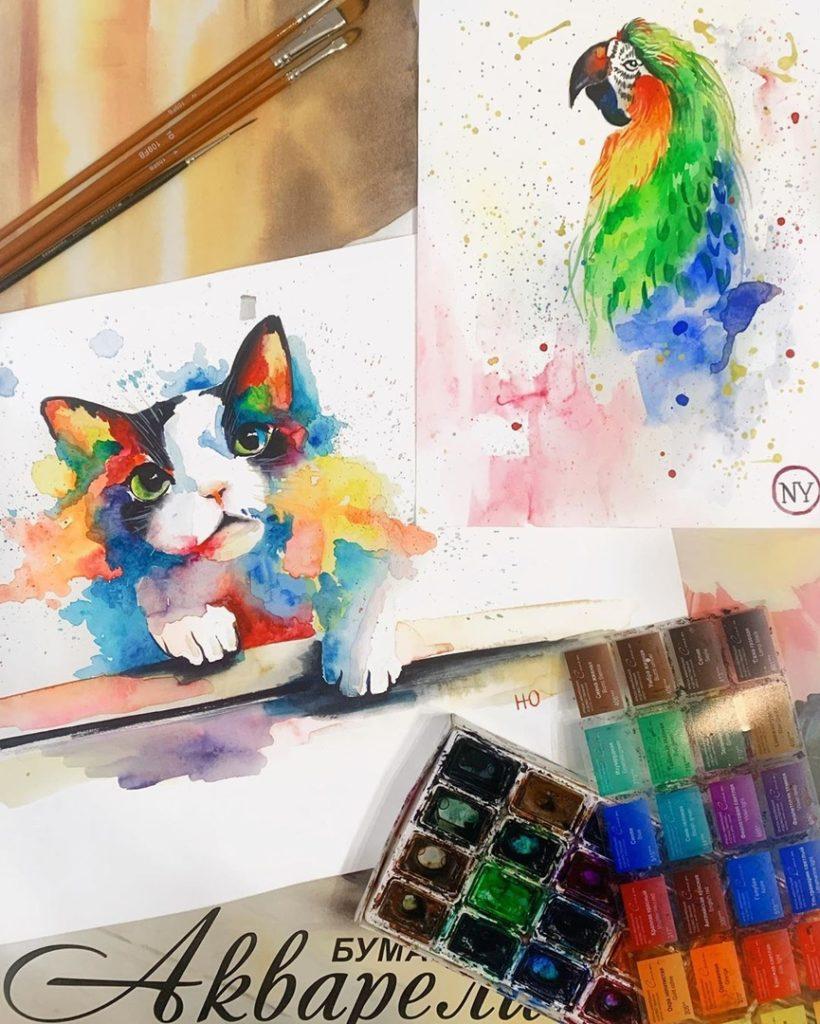 Виды и типы красок для рисования - фото
