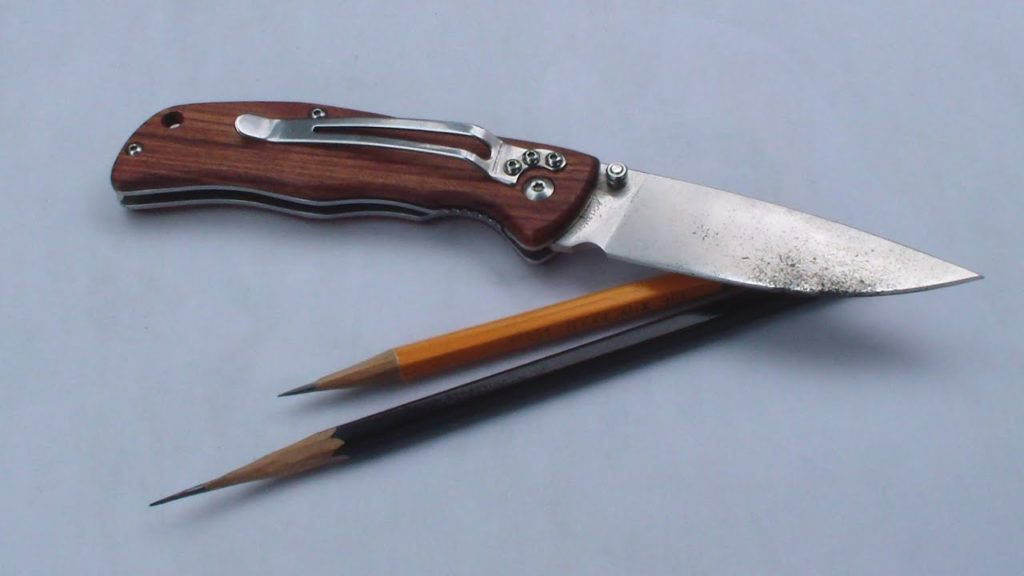 Чем лучше точить карандаши - нож - фото