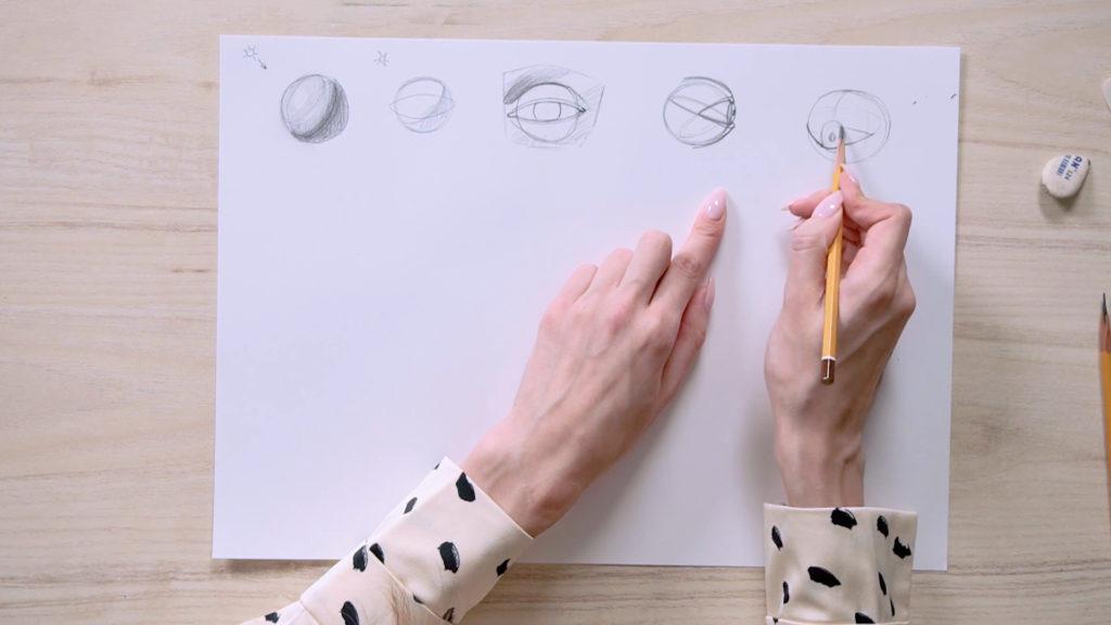 Как нарисовать глаза карандашом поэтапно - этап 3 - фото