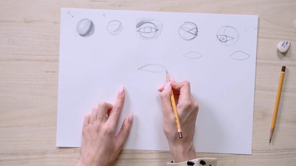 Как нарисовать глаза карандашом поэтапно - этап 5 - фото