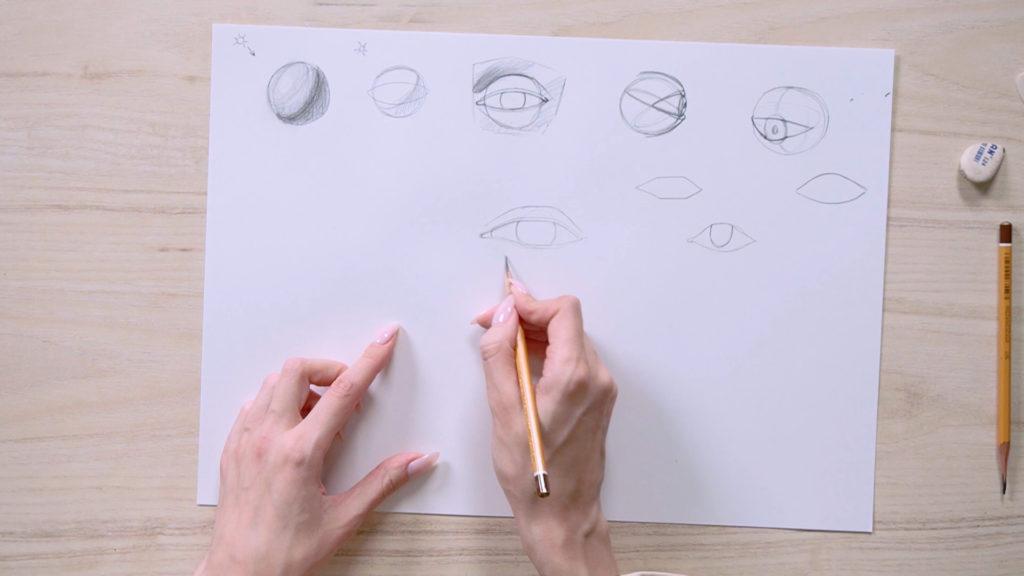 Как нарисовать глаза карандашом поэтапно - этап 6 - фото