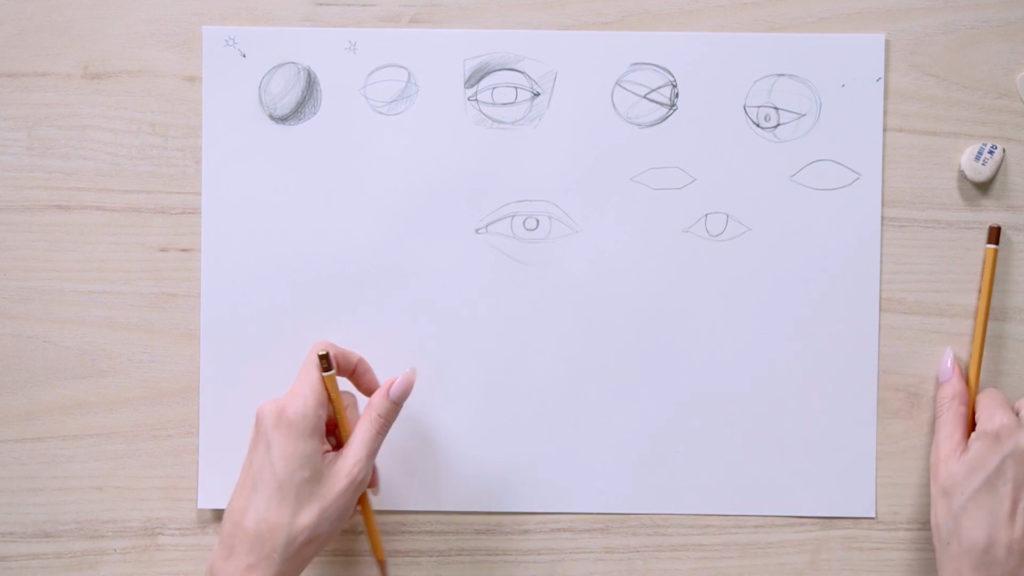 Как нарисовать глаза карандашом поэтапно - этап 7 - фото