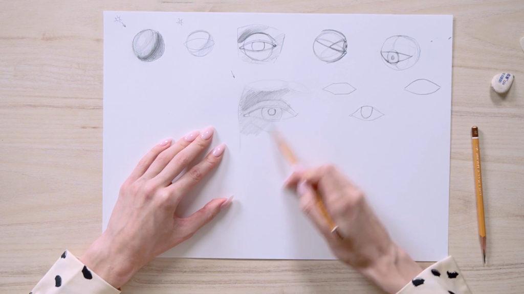 Как нарисовать глаза карандашом поэтапно - этап 9 - фото