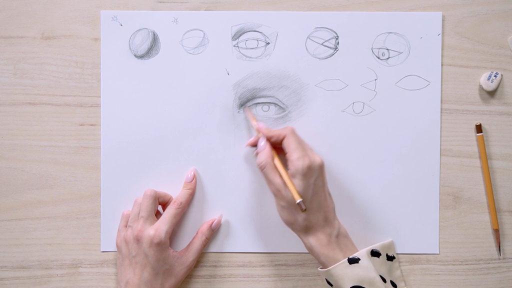 Как нарисовать глаза карандашом поэтапно - этап 10 - фото