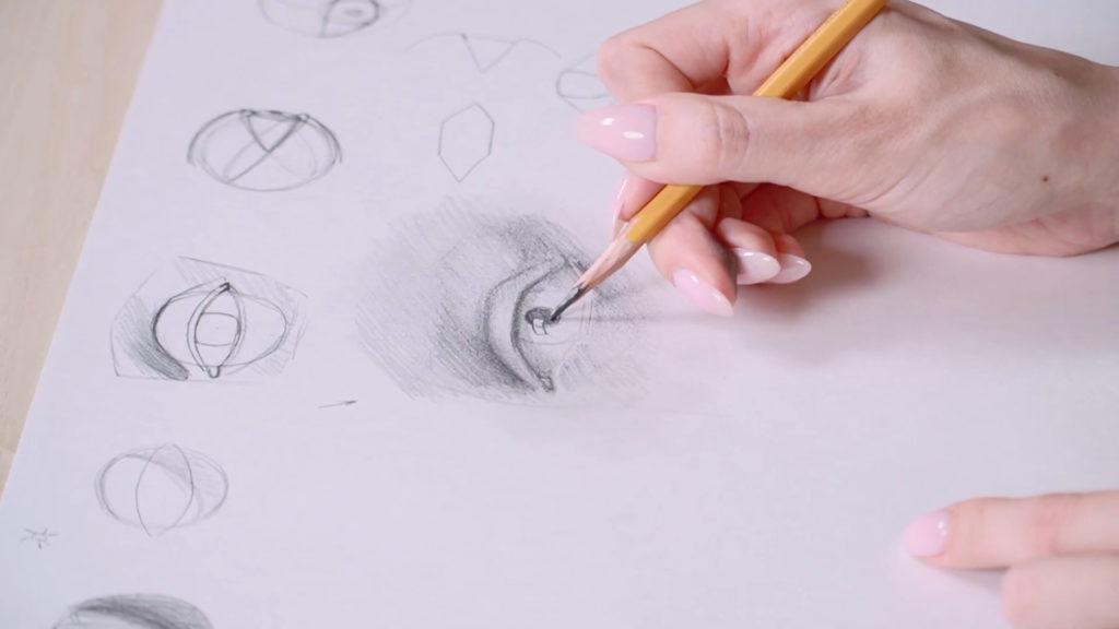 Как нарисовать глаза карандашом поэтапно - этап 11 - фото