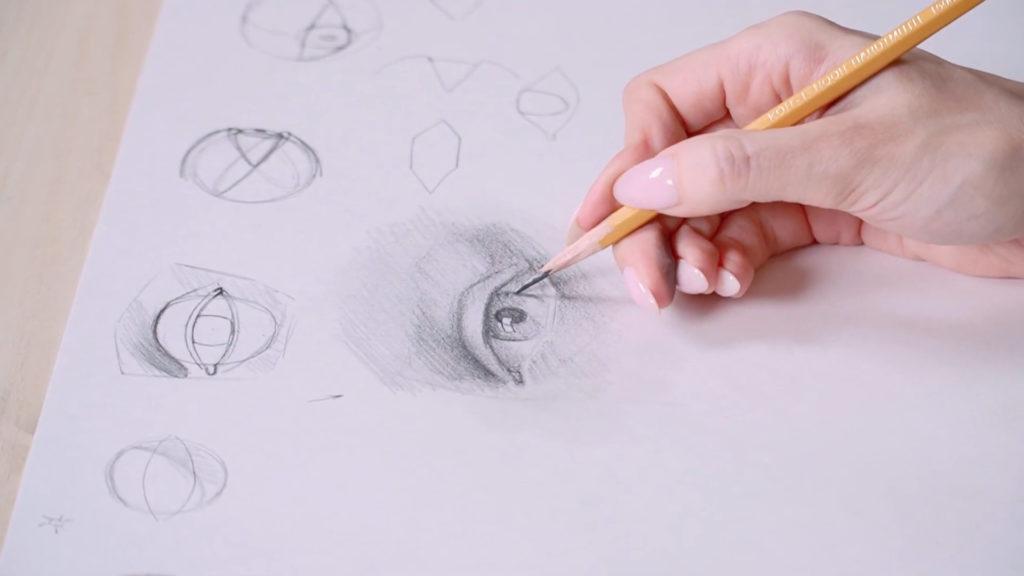 Как нарисовать глаза карандашом поэтапно - этап 12 - фото