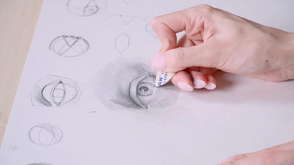 Как нарисовать глаза карандашом поэтапно - этап 14 - фото