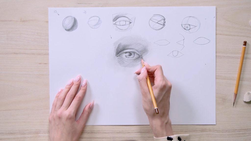 Как нарисовать глаза карандашом поэтапно - этап 15 - фото