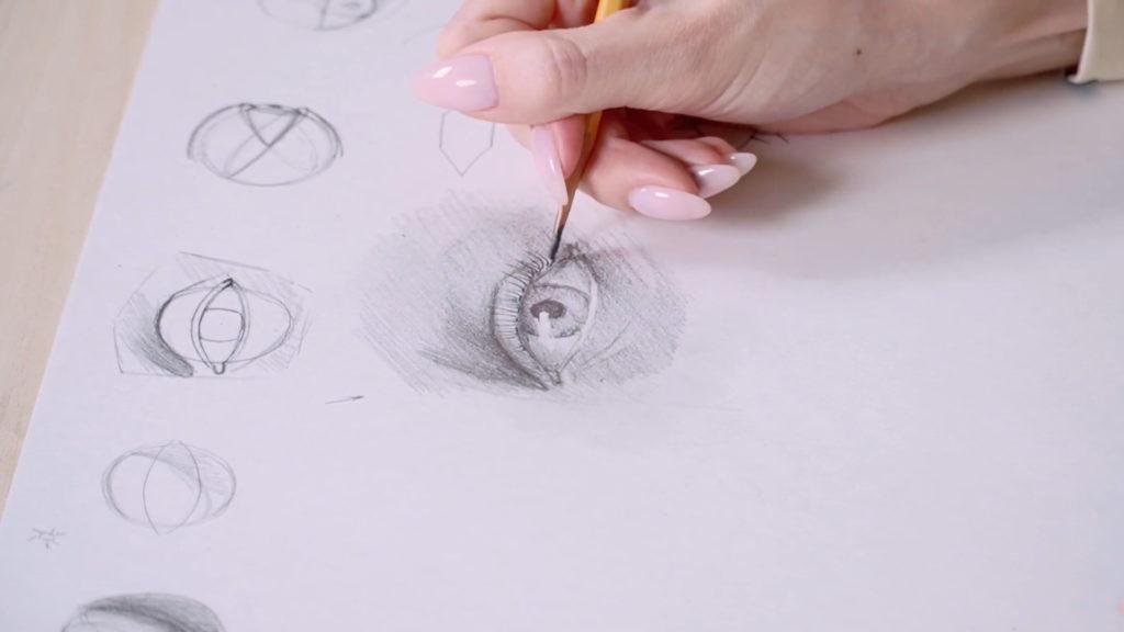 Как нарисовать глаза карандашом поэтапно - этап 16 - фото