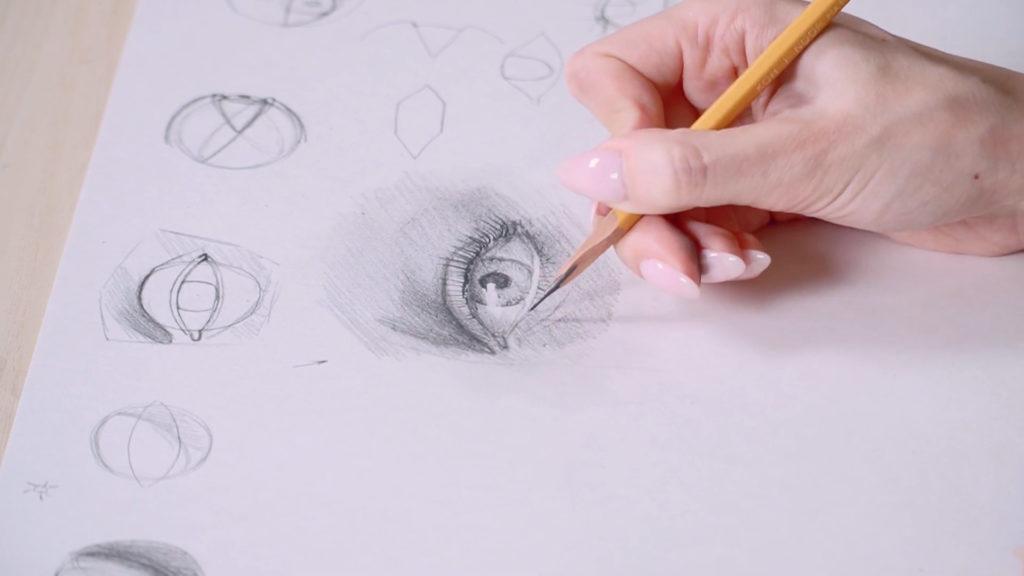 Как нарисовать глаза карандашом поэтапно - этап 17 - фото