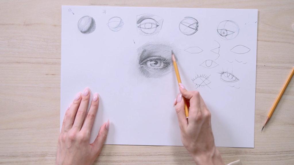 Как нарисовать глаза карандашом поэтапно - этап 18 - фото