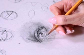 Как нарисовать глаза карандашом поэтапно - фото