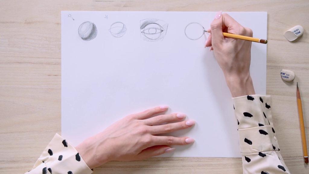 Как нарисовать глаза карандашом поэтапно - этап 2 - фото