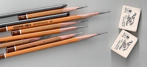 Правильный вариант затачивания карандашей - фото