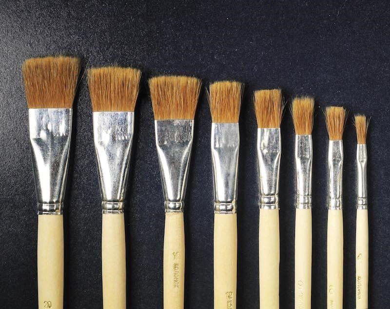 Техника поталь в живописи - кисти - фото