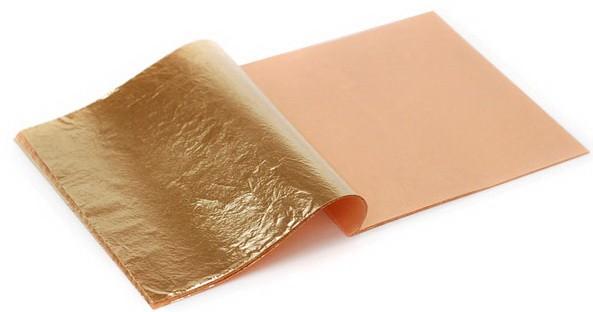 Золотая поталь как наносить - поталь в листах - фото