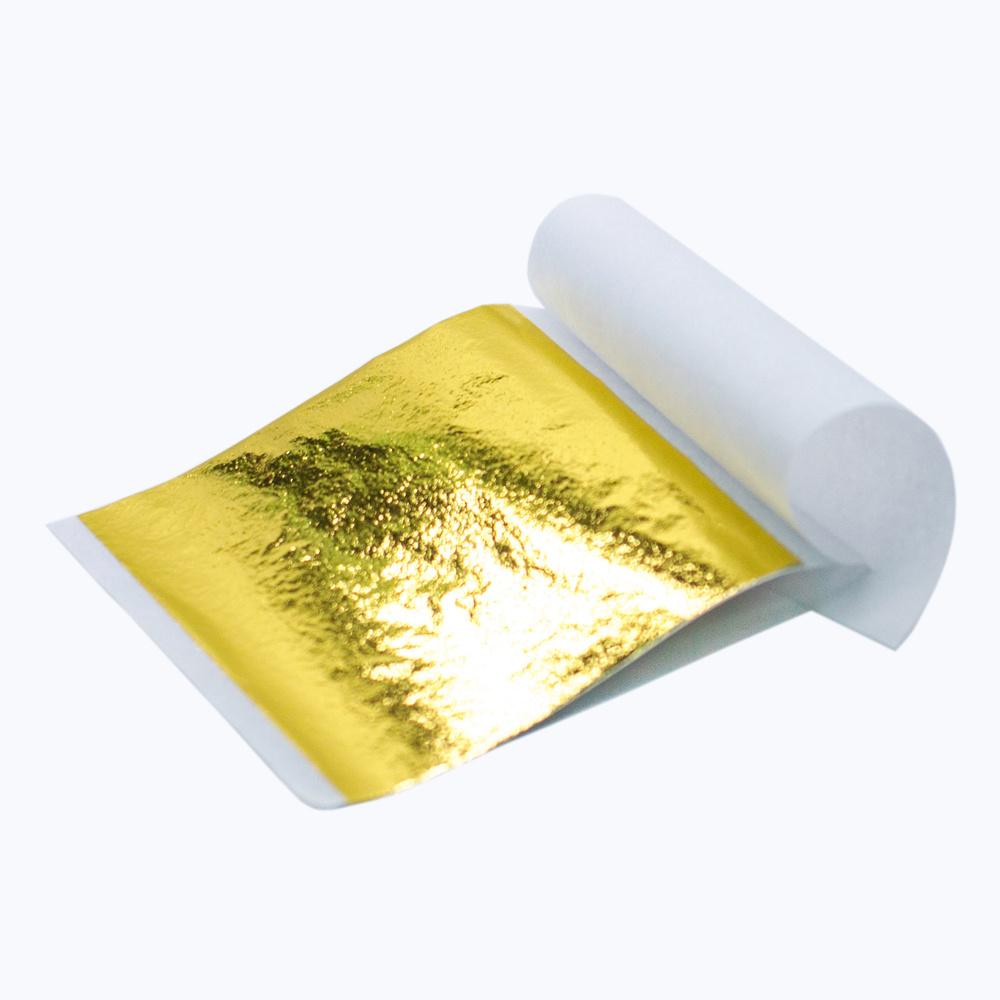 Золотая поталь как наносить - трансферная поталь - фото