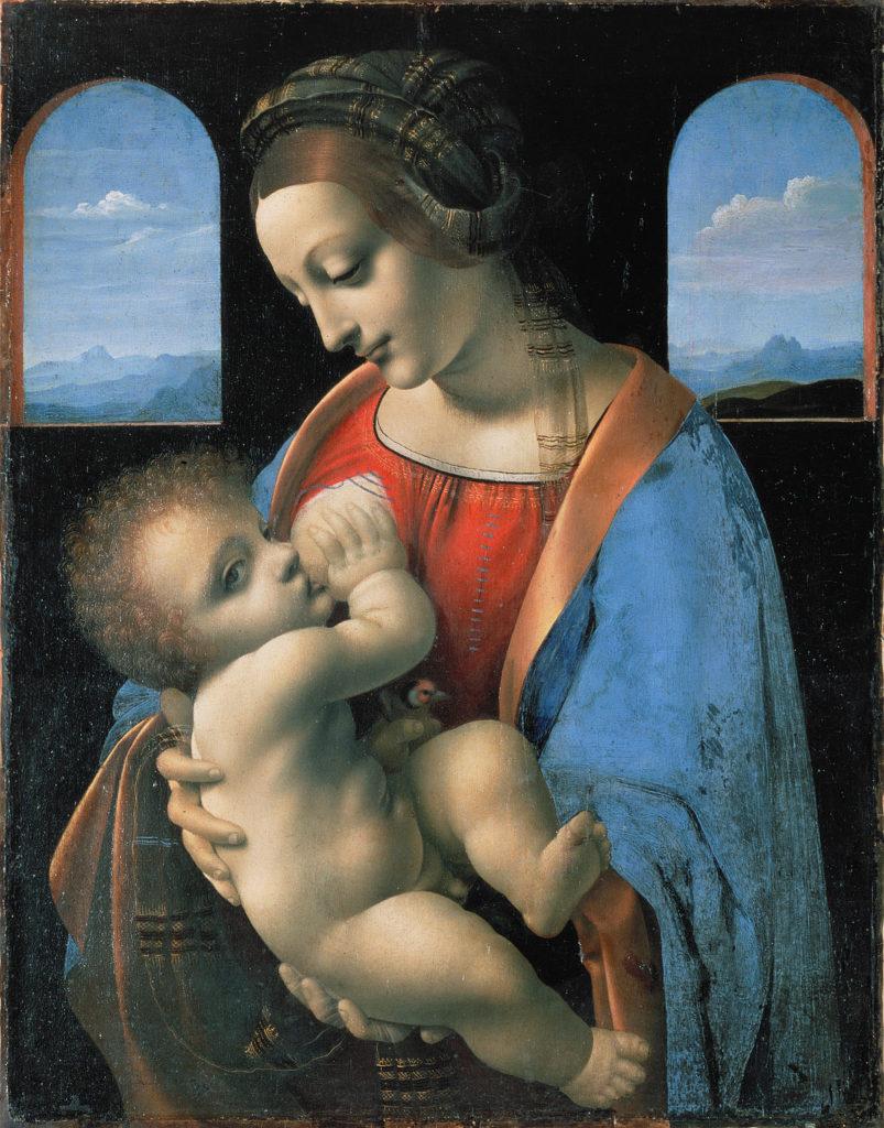 Черный цвет в живописи - картина Леонардо да Винчи - фото