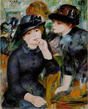 Черный цвет в живописи - картина Пьера Огюст Ренуара - фото