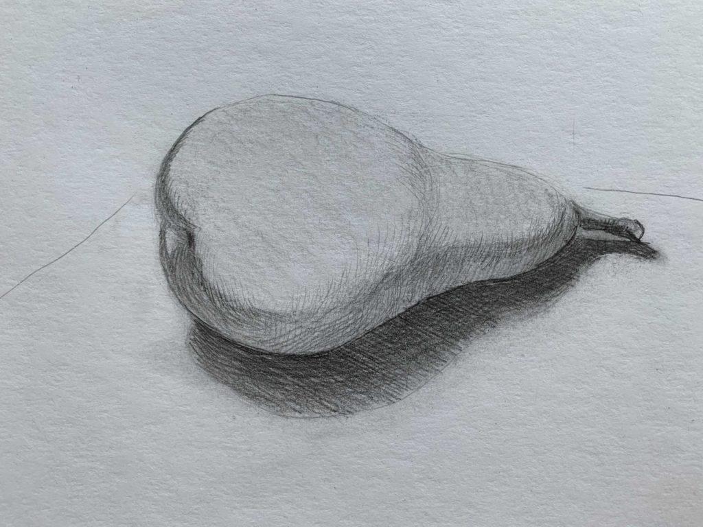 Как нарисовать грушу с тенью 4 этап - фото
