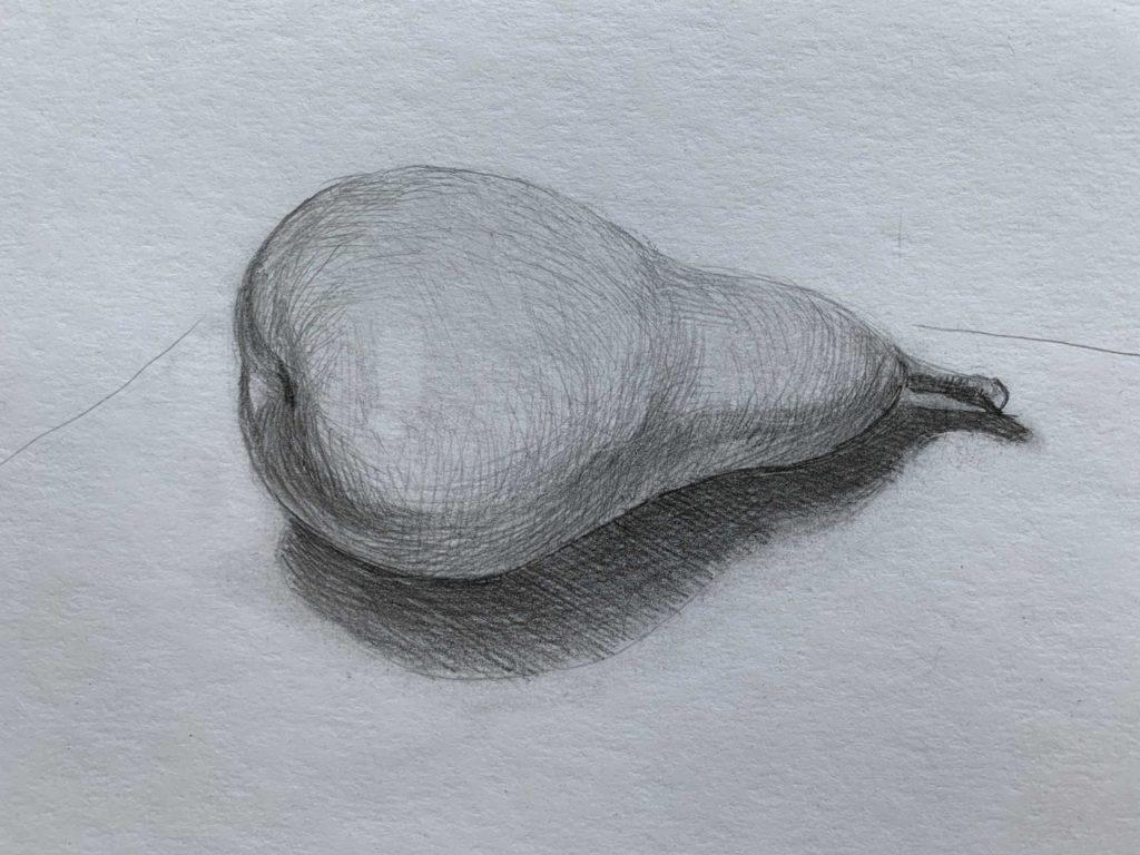 Как нарисовать грушу с тенью 5 этап - фото
