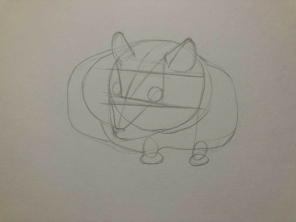 Как нарисовать карандашом хомячка - джунгарский 1 этап - фото
