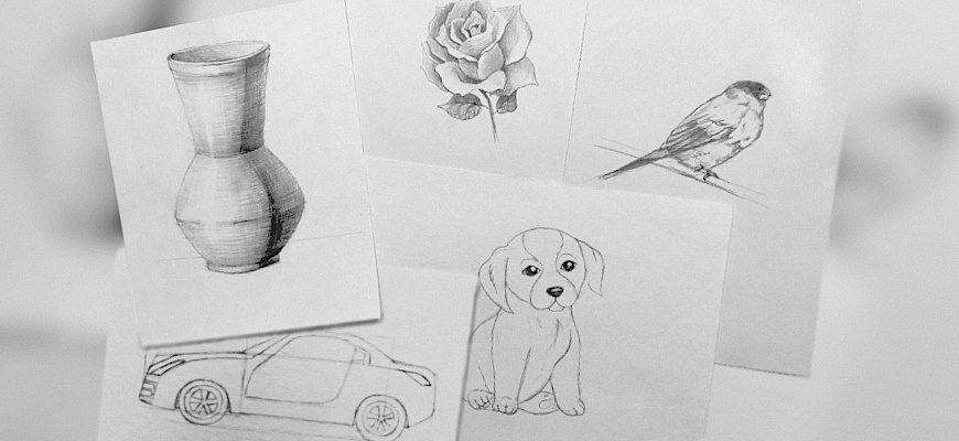 Как научиться рисовать карандашом - фото