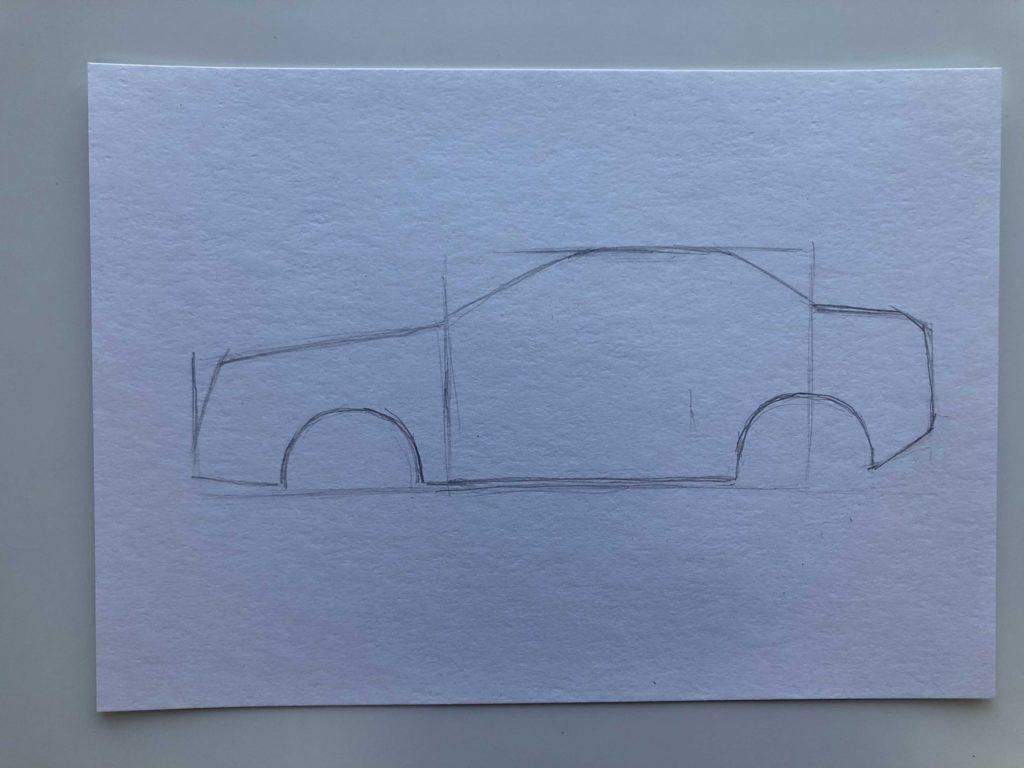 Как научиться рисовать карандашом - машина 2 этап - фото