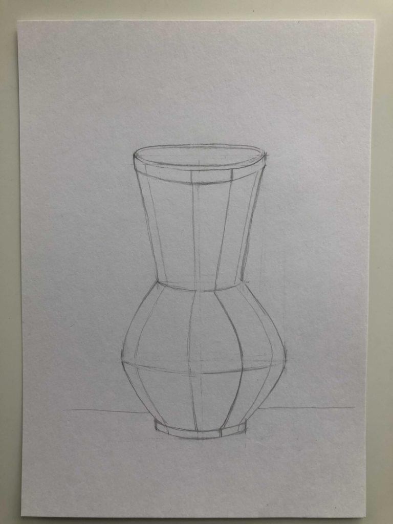 Как научиться рисовать карандашом - ваза 3 этап - фото