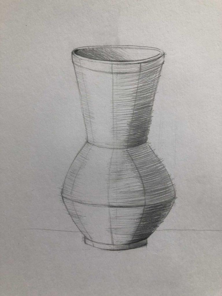 Как научиться рисовать карандашом - ваза 4 этап - фото