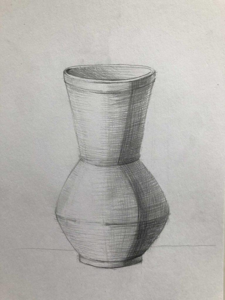Как научиться рисовать карандашом - ваза 5 этап - фото