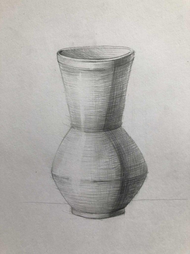Как научиться рисовать карандашом - ваза 6 этап - фото