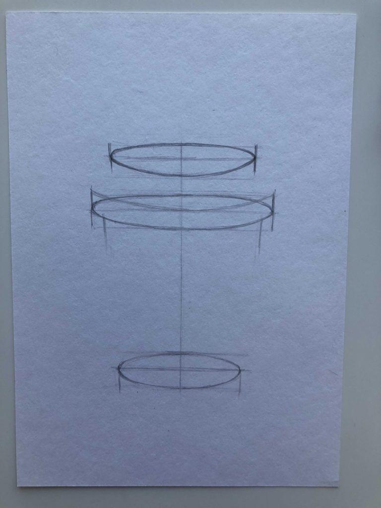 Как поэтапно нарисовать карандашом кофейный стакан 2 этап - фото