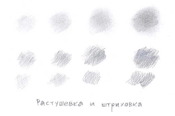 Как рисовать сангиной - растушевка и штриховка - фото